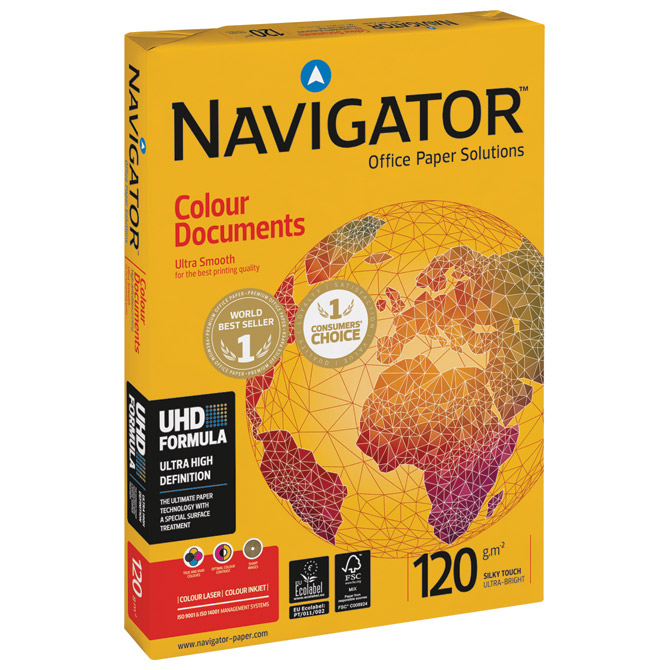 Papir ILK Navigator A4 120g Colour Documents pk250 Soporcel Cijena