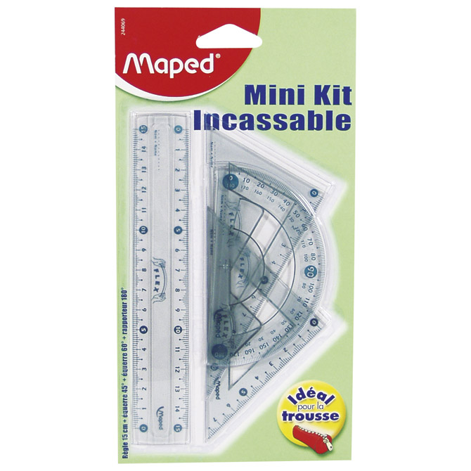 Geometrijski set 1/4 mali Flexi Maped 244069 blister!! Cijena