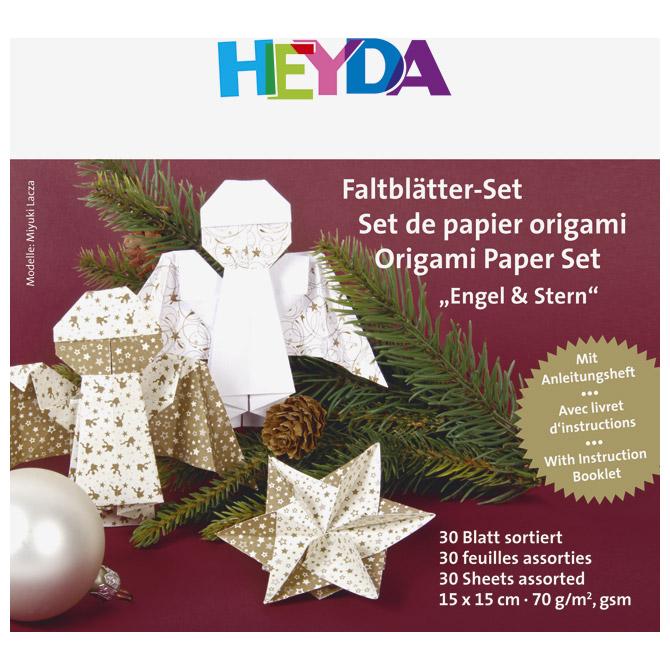 Origami Blaetter , Papir Origami 15x15cm 70g Pk30 Anđeo Heyda 20 75 Zlatno Bijeli