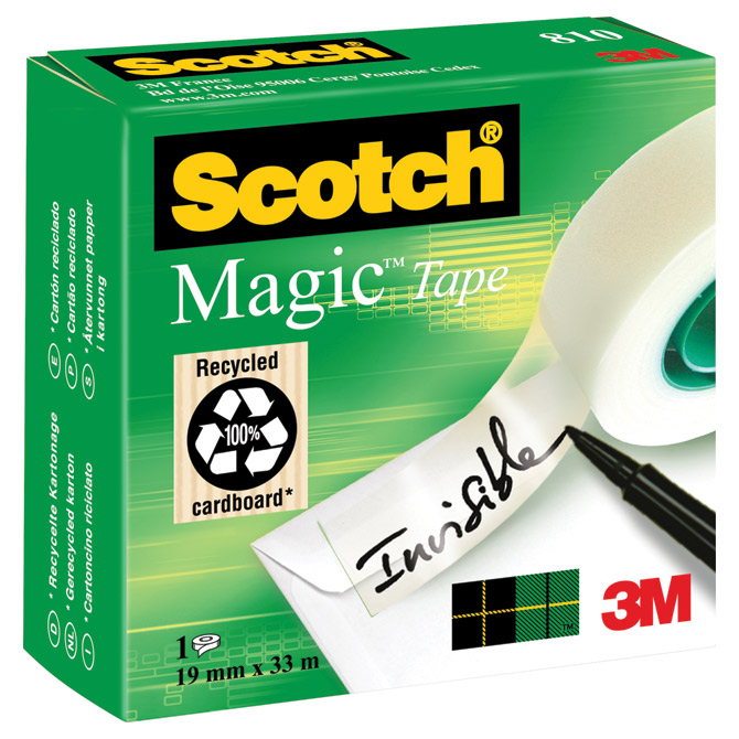 Traka ljepljiva nevidljiva 19mm/33m Scotch Magic-810 3M. Cijena