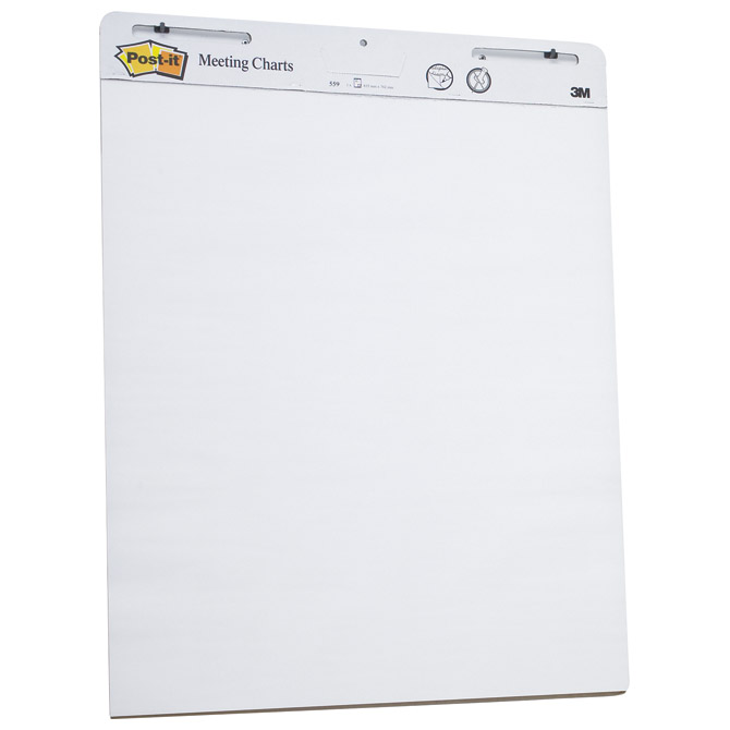 Blok-Flipchart 63,5x76,2cm 30L pk2 Post-it 3M.559 Cijena