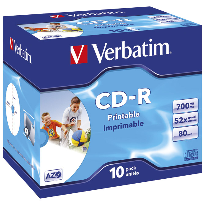 CD-R 700/80 52x JC AZO printable Verbatim 43325 Cijena