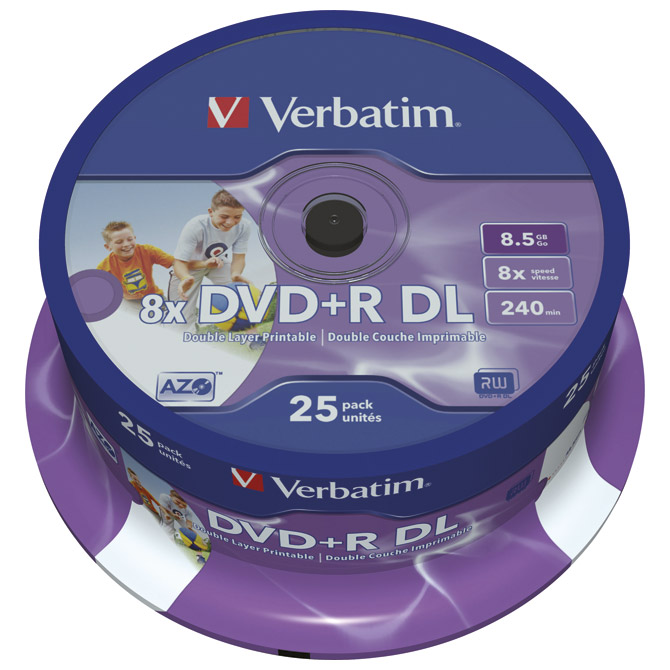 DVD+R DL 8,5/240 8x spindle printable pk25 Verbatim 43667 Cijena