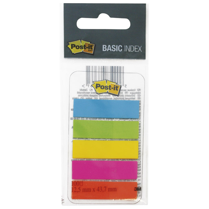 Zastavica/signir 12,5x43,7mm 5bojax20L Post-it 3M.683-5EE blister Cijena